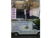 mobile dog grooming van