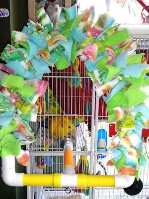 Rainbow Perch Cage Mounted Parrot Hanging Snuggle Perch ****