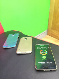 SAMSUNG GALAXY S5 SIMFREE COMES WITH CHARGER AND THREE MONTHS WARRANTY