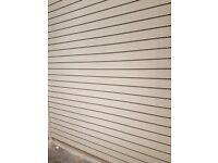 NEW White Slatwall panel & Grey inserts (ASAP)