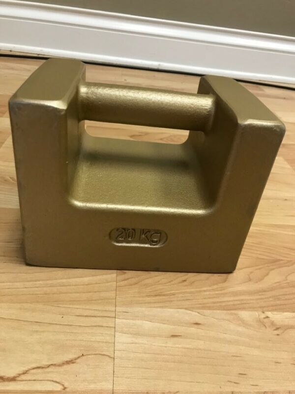 RICE LAKE 20kg CAST IRON SCALE CALIBRATION WEIGHT, ASTM Class 6, Never Used!