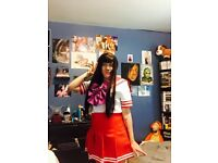Sailor Mars Cosplay Sailor Moon Costume Fancy Dress Outfit S-4XL UK Sizes 8-20