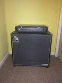 Ampeg B2-RE 450-Watt Bass Guitar Amplifier Head + Large Speaker