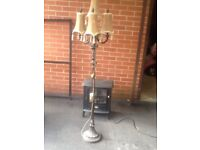 FLOOR LAMP ANTIQUE GOLD SHADES