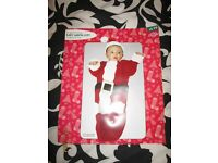 BABY CHRISTMAS SANTA OUTFIT SIZE 0 TO 9 MONTHS NEW FROM BIRTHDAYS
