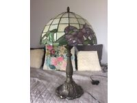 Beautiful metal Art Deco style table lamps x 2 plus matching lamp shade