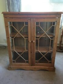 Pine display cabinet - ideal for renovation / upcycling / painting / refurbishment