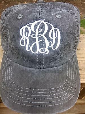 NWT Preppy Monogrammed Ladies Hat- Adjustable, CUTE and GREAT GIFT! ()