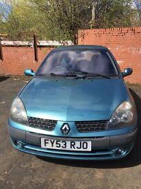 2003 Renault Clio 1.4 16v Petrol, 3 Door, 12 Months Mot!