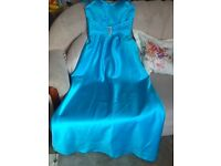 Beautiful blue bridesmaid/prom dress, size 10, new with tag
