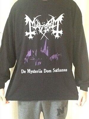 Mayhem Long Sleeve T shirt Black Metal Watain Darkthrone Venom Von