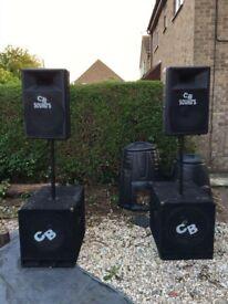 Gemini tops and bass bins