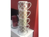 Mug tower - New set of 4