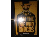 """Breaking Bad Canvas 63x93cm """"I am the one who knocks"""" sealed"""