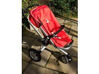 Quinny Buzz Multi terrain pram (strawberry red ) AND EXTRAS