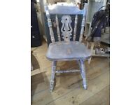 Blue Chair in Rustic or Shabby Chic Style.