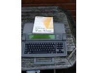 Sharp Font Writer Personal Word Processor