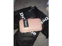 WOMENS DUNE BSARAH IRRIDESCENT PINK BOX CLUTCH BAG WITH STRAP BNWT BARGAIN