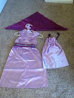Girls Size 8 Princess Long Purple Halloween Costume , Homemade!