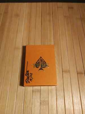 Ace Fulton's Casino Little Tokyo Orange Playing Cards -Artist Proof Signed 19/52