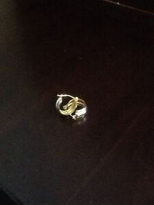Gold earring and rings