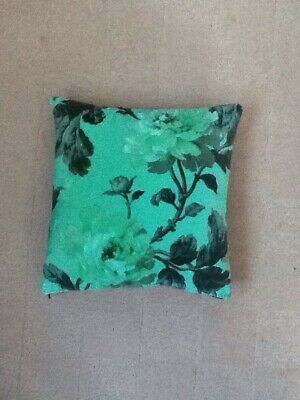 House Of Hackney Peonies Velvet Fabric Cushion COMPLETE Duck Feather Pad 29x29cm