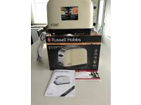 Brand New In Box Russell Hobbs Cream Toaster. 2 slices, unwanted gift.