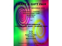 Craft and Gift Fair 19th November @ Broomhall Centre 1-4