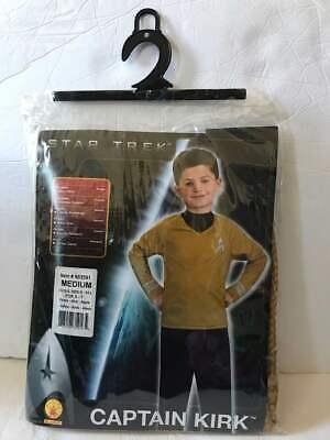 STAR TREK KIDS COSTUME CAPTAIN KIRK SIZE MEDIUM 8-10 NEW! FREE - Kids Star Trek Costume