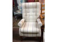 Vintage armchair in next tartan fabric