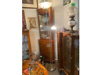 Tall Metal Lamp with adjustable second light for reading LOW COST MOVES Stalybridge SK15 3DN