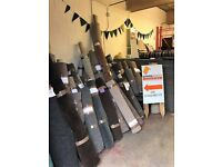 Carpet Cut Offs. Huge Selection,Amazing Price! One Big Roll Of Grey Vinyl 50% Off RRP!