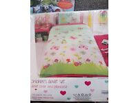 Childrens Fun Single Butterfly Filled Bedding Set