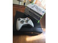 Xbox 360 For sale with 7 games