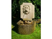 Large VERY Heavy Stone Water Fountain with Huge Trough, Large Pebble , Pump etc