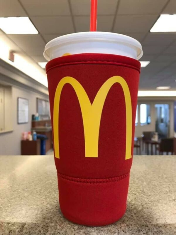 McDonald's Koozie - Neoprene Sleeve for 32 oz (large size) Plastic Cup