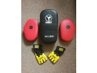 Boxing mitts and Strike Pad Set