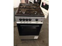 silver and black flavel 50cm gas cooker