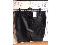 Next black coated skirt
