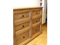 Gorgeous solid pine 6 drawer chest of drawers- brand new
