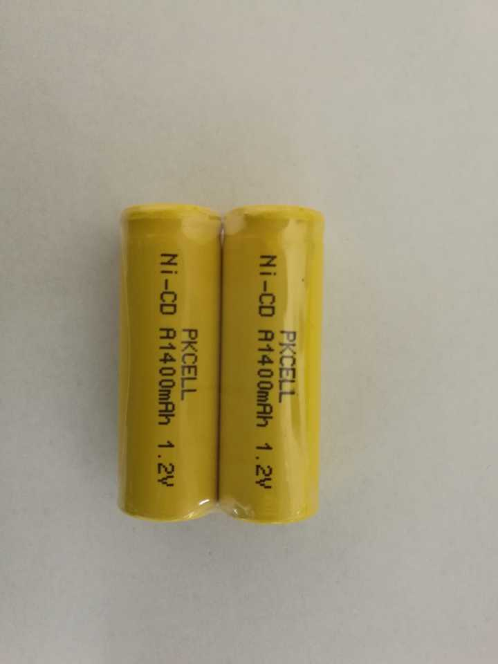 2 x NiCd Size A 17500 1400mAh 1.2V Ni-CD Rechargeable Battery PKCELL US Seller