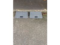 2 X Rubber Kerb Ramps for Cars Caravans Wheelchair Mobility Disabled Access (New)