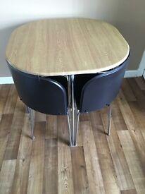 Space saving table.