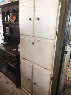 vintage retro kitchen cabinet /cupboard metal, age related wear and tear