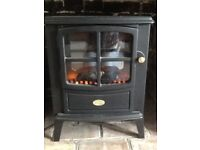 Dimplex flame effect electric heater, two control settings, as new