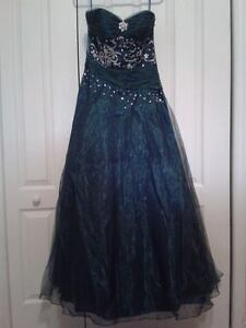 Blue Prom Gown fits Medium-Large
