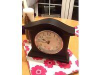 Black Modern Mantle Clock new