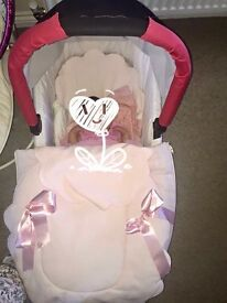 Rosy Fuentes pram cover and car seat cover