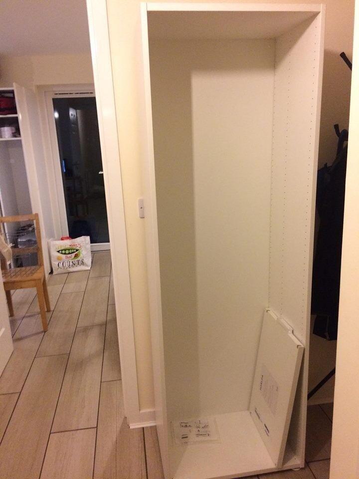 Bn Ikea Platsa Frame 60 X 40 X 180 Cm White Shelf Feet In