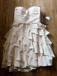 New Pink Pearl strapless dress